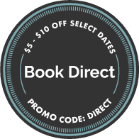 Book direct with promo con 5OFF and get 5$ Less for night